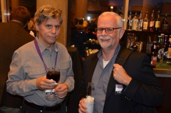 Paul Levitz, left, with my weekend house guest Paul Kupperberg.