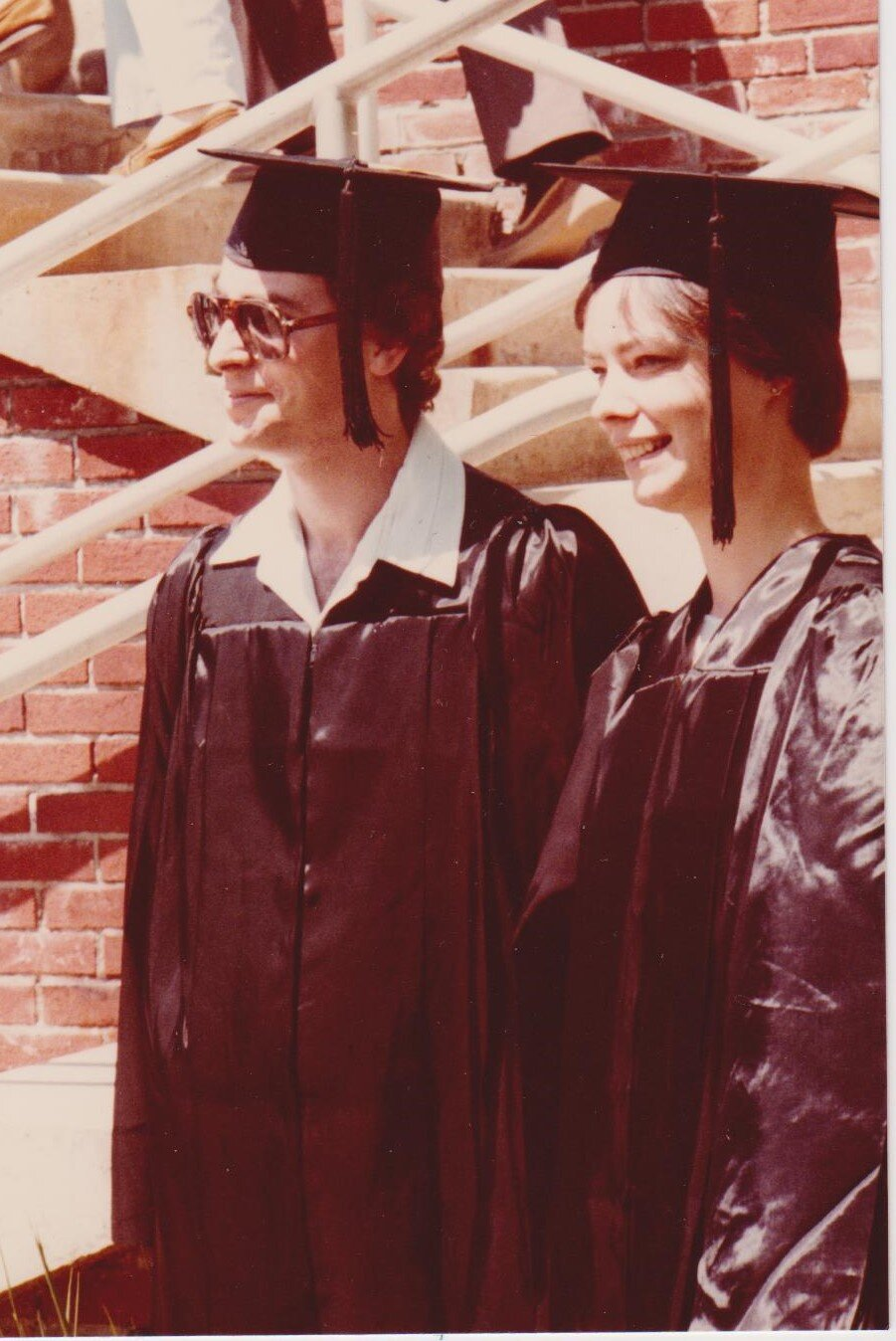 May 1980, engaged and graduating from college.