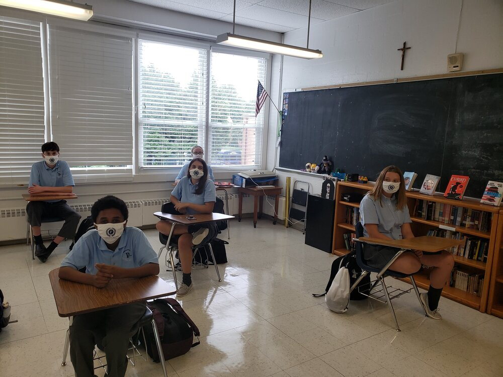 My very first class of the year, masked and ready to learn.