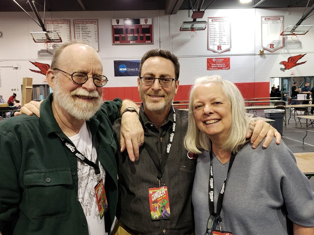 With Walter and Louise SImonson at Camden Comic Con in April.